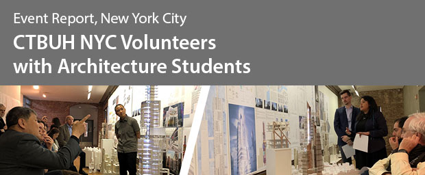CTBUH NYC Chapter Volunteers with Pratt Architecture Students