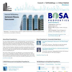 Bosa Properties Inc. Member Page