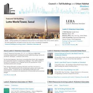 Leslie E. Robertson Associates Member Page