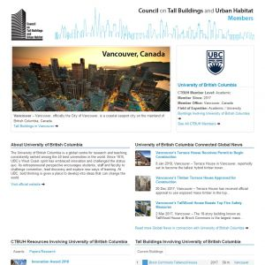 University of British Columbia Member Page